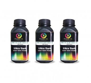 Printstar Ultra Dark Toner Powder Pack of 3 for HP 12A / 15A / 49A / 53A Canon FX9 Toner Cartridge Single Color Toner (Black)