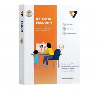 K7 Total Security - 1 PC, 1 Year (CD or Voucher)