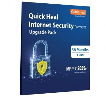 Quick Heal Internet Security - 1 User, 3 Years (CD)