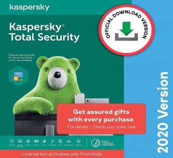 Kaspersky Total Security 2020 Latest Version - 1 User, 3 Years (Code emailed in 2 Hours - No CD)