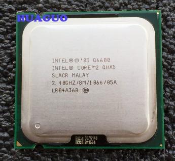 Intel Core 2 Processor Quad Q6600 2.4 GHz Quad-Core CPU Processor SLACR LGA 775 8M Cache