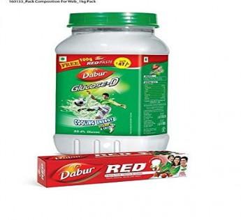 Dabur Glucose D 1 Kg and Dabur Red Paste 200 gm