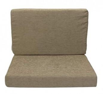 Gold Flex Sleepwell Sheela Group Sofa Foam Cushions with Cover Cream 40 Density Seat 21 x 22 x 5-inch Soft Foam on Top 32 Density Back 21 x 18 x 4-inch