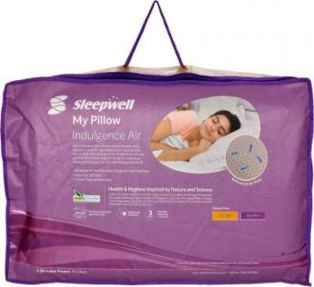 SLEEPWELL PILLOW Indulgence Air Pillow, 58.5x38x13cm, White