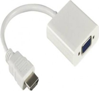 Adnet HDMI2VGA 0.5 m HDMI Adapter  (Compatible with LAPTOPS,DESKTOP, PROJECTOR,TV,MONITORS, White)