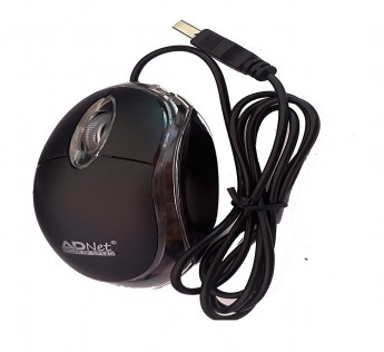 ADNET Optical Mouse USB Wired Mouse Black