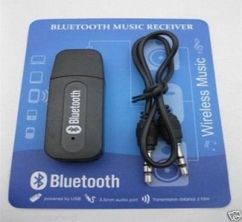 ADNET USB Bluetooth Audio Music Receiver Adapter 3.5 mm AUX for Car and Speakers