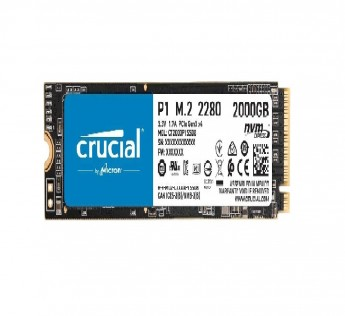 Crucial SSD 2TB 3D P1 NAND NVMe PCIe Internal SSD, up to 2000MB/s - CT2000P1SSD8