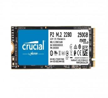 Crucial SSD 250GB P2 250GB 3D NAND NVMe PCIe M.2 SSD - CT250P2SSD8