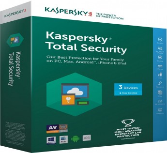 Kaspersky Total Security 3 Users, 1 Year (Multi Device) (CD)
