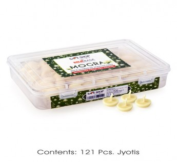 MIAKASA MOGRA SCENTED JYOT (121PCS) WITH PLASTIC BOX