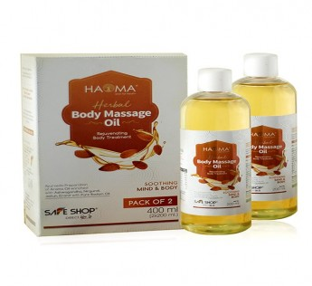 HAOMA PURE BADAM NIRGUNDI HERBAL MASSAGE OIL (PACK OF 2)