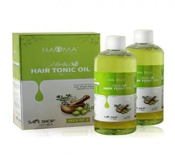 HAOMA BHRINGRAJ BRAHMI HERBAL HAIR TONIC OIL (PACK OF 2)