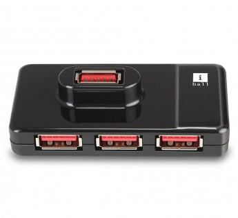 iBall USB PORT 4 PORT Piano 430 4 Port USB Hub (Black)