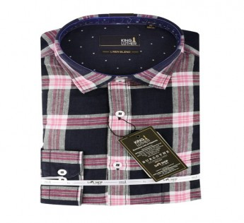 KING LUTHER WESTERN CHECKS LINEN 1 SHIRT