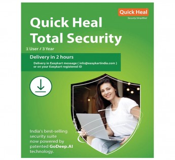 Quick Heal Total Security - 1 PC 3 Years mail (Email Delivery in 2 hours- No CD)
