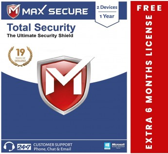 Max Secure Total Security 2 PC 1 Year Platinum with Ransomware Protection ( Windows ) - 2PC, 1 Year (Email Delivery in 2 Hrs - No CD )