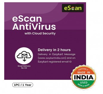eScan Antivirus 1 User 1 Year with Cloud Security (Email Delivery – No CD)