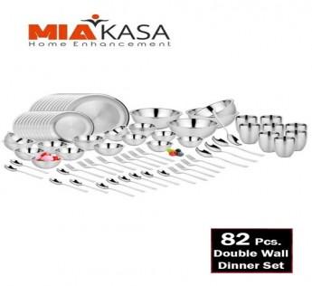 MIAKASA DINNER SET DOUBLE WALL 82PCS SAFE SHOP