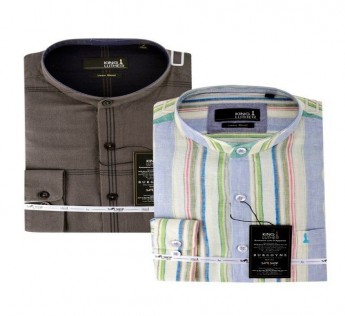 KING LUTHER COOL AND CASUAL SET OF 2 LINEN SHIRTS SAFE SHOP
