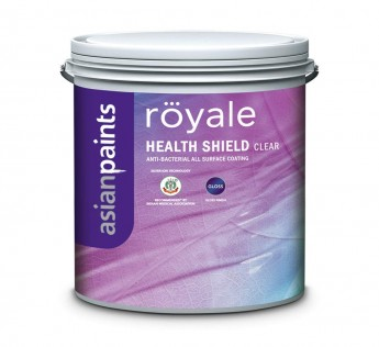 Asian Paint Royale 4 Litre ezyCR8 Royale Health Shield, DIY All Surface Anti Bacterial Clear Coating Paint, Gloss  4 Litre