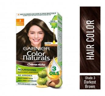 Garnier Natural Darkest Brown Hair Colour Shade 3 70 ml + 60g Garnier Brown Hair Colour