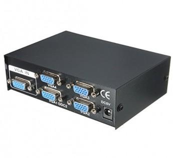 RANZ VGA Splitter 1 in 4 Out Ranz VGA splitter 4 Port VGA 15 Pin Video Splitter for 1 PC Computer to 4 TV Monitor Projector ( 4 Port VGA Splitter )