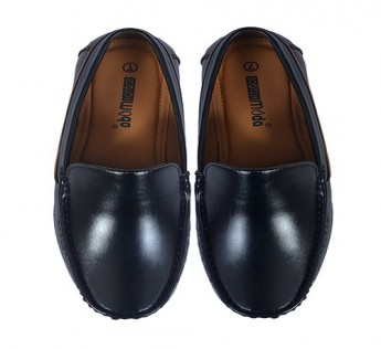 SCOTCH MODA LOAFER FAUX LEATHER SHOE (BLACK) SAFE SHOP