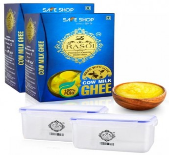 LA RASOI COW MILK GHEE 2 LTR WITH 2 PLASTIC BOX SAFE SHOP