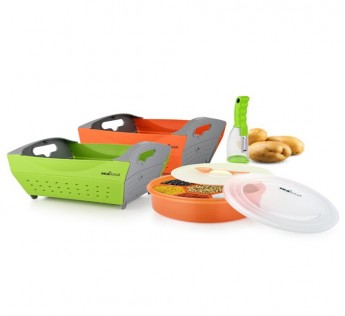 MIAKASA MAGIC KITCHEN SET (2MAGIC BASKETS,1 MAGIC PEELER,1MASALABOX) SAFE SHOP