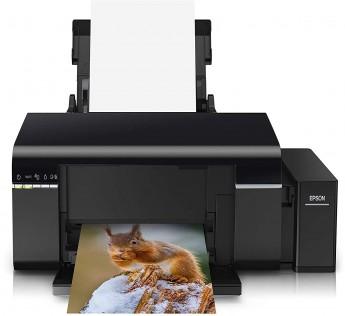 Printer Epson L805 Single Function WiFi Color Printer EPSON L805 Printer (Black, Refillable Ink Tank)