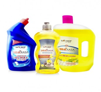 MIAKASA COMPLETE CLEAN (SET OF 3 TOILET, DISHWASH AND FLOOR CLEANER) SAFE SHOP