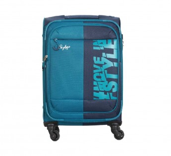 Small Cabin Skybags Luggage (56 cm) - Fable 4W Expandable Skybags Strolly bags 56 CM - Blue