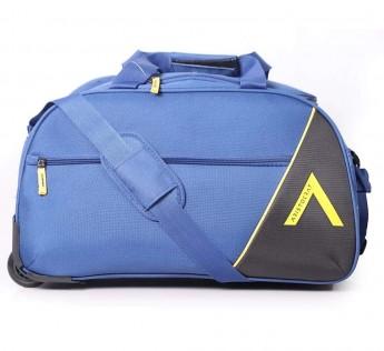 Aristocrat bags Polyester Aristocrat Trolley Duffel Bag Blue