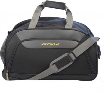 ARISTOCRAT bags (Expandable) ClickDuffle bags ARISTOCRAT Duffle bags on Wheel 55 cm (Black) Duffel Strolley Bag  (Black)
