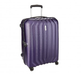 Aristocrat luggage bag Aston Polycarbonate 55 cms Purple Hard Sided Carry On ASTON55TMDP