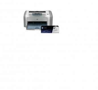 HP LaserJet 1020 Plus Single Function Monochrome Printer  (White, Grey, Toner Cartridge)