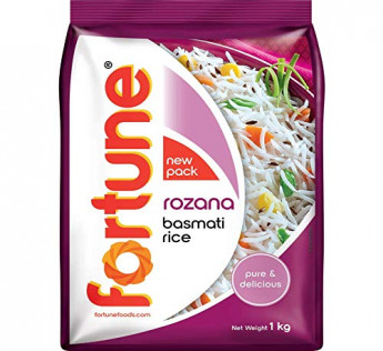 Fortune Rozana Basmati Rice, Suitable for Daily Cooking, 1 kg