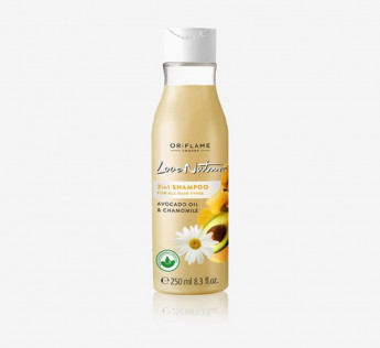 Oriflame 2in1 Shampoo for All Hair Types Avocado Oil & Chamomile