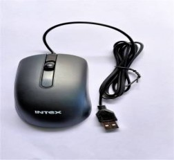 Intex Mouse IT M010 Wired Optical Mouse USB 2.0 Black