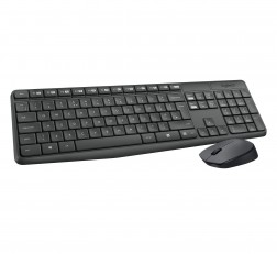Logitech Keyboard Mouse Combo MK235 Keyboard and Mouse Combo Keyboard for Windows, 2.4 GHz Wireless with Unifying USB-Receiver, Wireless Mouse, 15 FN Keys, 3Year Battery Life, PC/Laptop Black