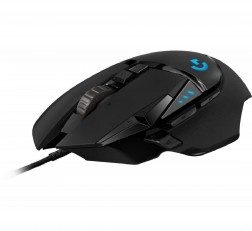 Logitech G502 Wired Gaming Mouse Hero High Performance Wired Gaming Mouse, Hero 16K Sensor, 16,000 DPI, RGB, Adjustable Weights, 11 Programmable Buttons, On-Board Memory, PC/Mac Black