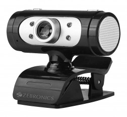 Zebronics WEB CAMERA Ultimate Pro (Full HD) Web Camera with 5P Lens, Built-in Microphone, Auto White Balance, Night Vision, Manual Switch for LED (Black)