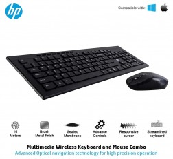 HP Keyboard and Mouse Combo 4SC12PA USB Wireless/Cordless Spill Resistance Keyboard and Mouse Combo
