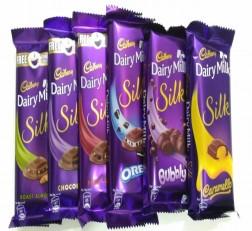 Cadbury Throni Dairy Milk Silk 335gm Cadbury Throni Dairy Milk Pack of 6 Combo