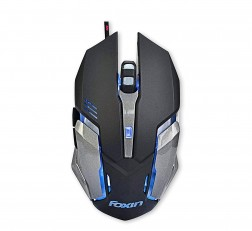 Foxin Mouse FGM 601 Optical Gaming Mouse 2400 DPI 1.5 meter Nylon Braided Cable Black
