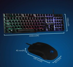 Zebronics Keyboard Mouse Combo Fighter Gaming Keyboard Mouse
