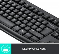 Logitech Keyboard MK270r Wireless Keyboard and Mouse Combo for Windows, 2.4 GHz Wireless, Compact Wireless Mouse, 8 Multimedia & Shortcut Keys, 2-Year Battery Life, PC/Laptop Black