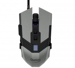 Quantum Gaming Mouse Snype 1.0 3200 DPI Wired USB Gaming Mouse with 7 Programmable Keys, Adjustable Weights & Nylon Braided Cable Grey
