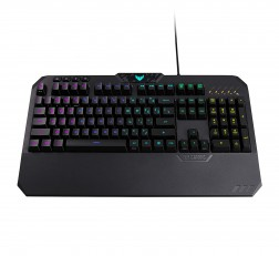 ASUS Gaming Keyboard ROG Strix Flare (Cherry MX Red) Aura Sync RGB Mechanical with Switches, Customizable Badge, USB Pass Through and Media Controls